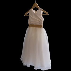Ivory flower girls dress